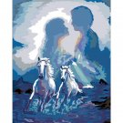 White horses DIY Acrylic Paint by Numbers kit