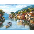 Lake landscape DIY Acrylic Paint by Numbers kit