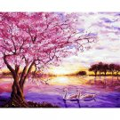 Swans at sunset DIY Acrylic Paint by Numbers kit