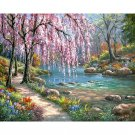Spring in the park DIY Acrylic Paint by Numbers kit