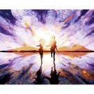Couple at sunset DIY Acrylic Paint by Numbers kit