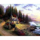 Forest dream house DIY Acrylic Paint by Numbers kit