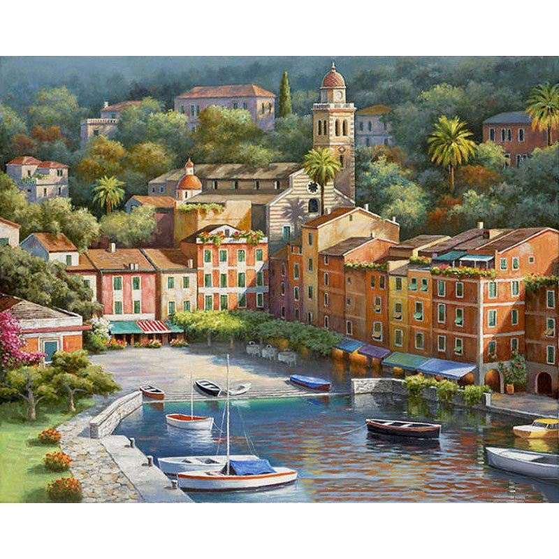 Port town DIY Acrylic - NOT AVAILABLE AT THE MOMETN