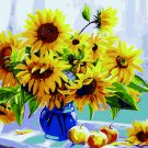 Sunflowers in a vase DIY Acrylic Paint by Numbers kit