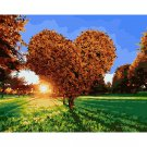 Heart shaped tree DIY Acrylic Paint by Numbers kit