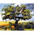Tree house DIY Acrylic Paint by Numbers kit