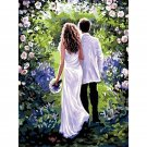 Married couple DIY Acrylic Paint by Numbers kit