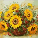 Sunflowers still life DIY Acrylic Paint by Numbers kit