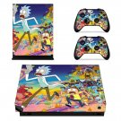 Rick and Morty Xbox one X Skin for Xbox one X Console and 2 Controllers