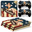 American Girl Vinyl Decal PS4 pro Skin for PlayStation 4 Console & 2 dualshocks