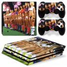 Football Girls Vinyl Decal PS4 pro Skin for PlayStation 4 Console & 2 dualshocks
