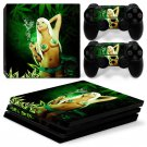 Smoking Girl Vinyl Decal PS4 pro Skin for PlayStation 4 Console & 2 dualshocks