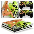 Beautiful Girl Vinyl Decal PS4 pro Skin for PlayStation 4 Console & 2 dualshocks