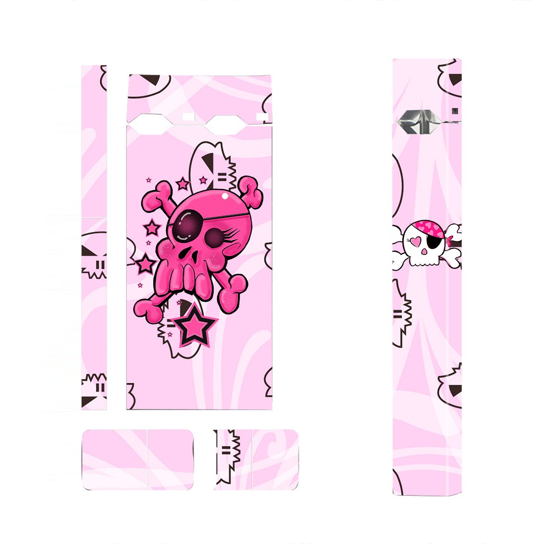 Pink Skull Skin Decal for JUUL