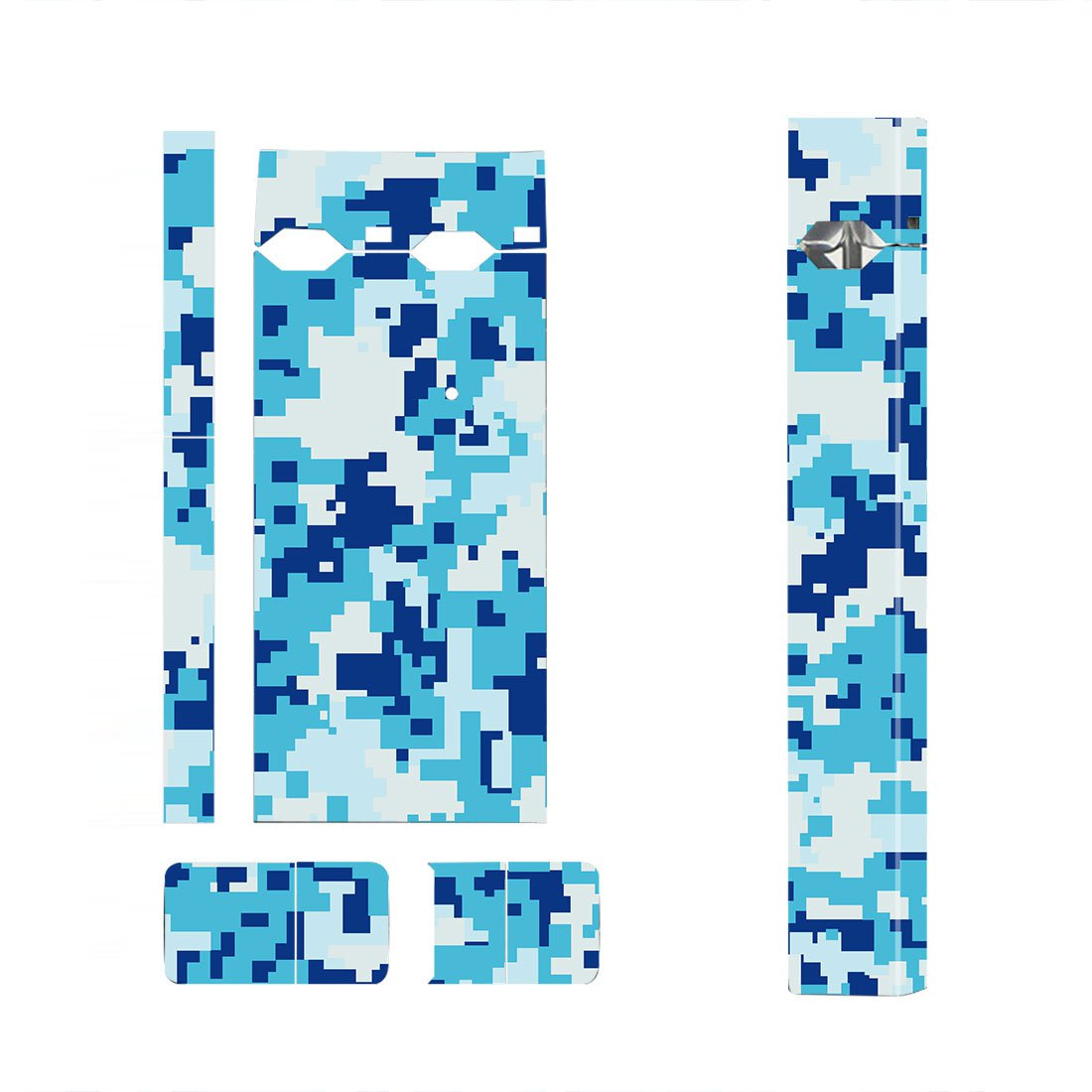 Blue Camouflage Skin Decal for JUUL