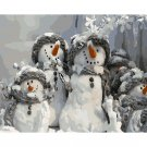 Snowmen DIY Acrylic Paint by Numbers kit