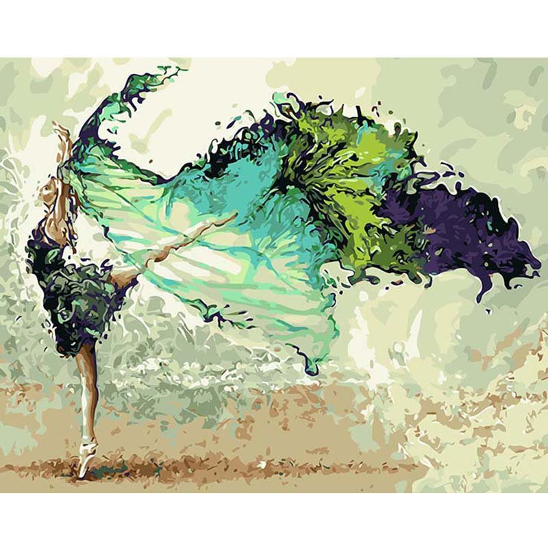 Ballerina DIY Acrylic Paint by Numbers kit