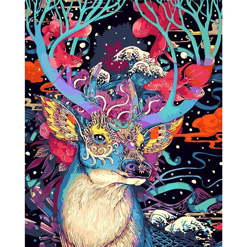 Colorful Deer DIY Acrylic Paint by Numbers kit