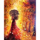 Lady with Umbrella DIY Acrylic Paint by Numbers kit