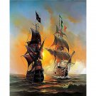 Ships DIY Acrylic Paint by Numbers kit
