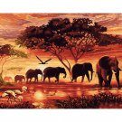 African Elephants DIY Acrylic Paint by Numbers kit
