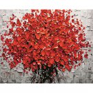 Red Flowers DIY Acrylic Paint by Numbers kit