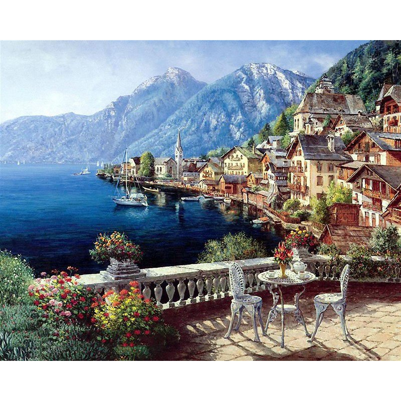 Hallstatt DIY Acrylic Paint by Numbers kit