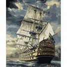 Ship DIY Acrylic Paint by Numbers kit