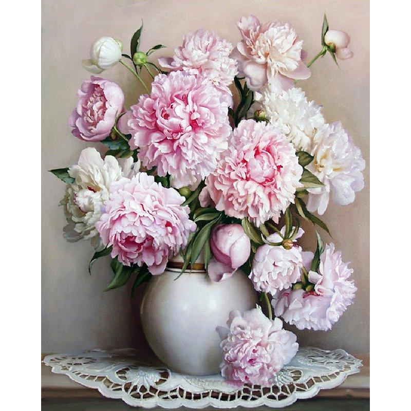 Flowers in Vase DIY Acrylic Paint by Numbers kit