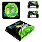 Rick and Morty Decal PS4 Slim Skin for PlayStation Slim Console & 2 dualshocks