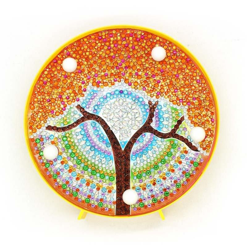 Mandala Tree Paint by Diamond DIY LED Lamp Kit