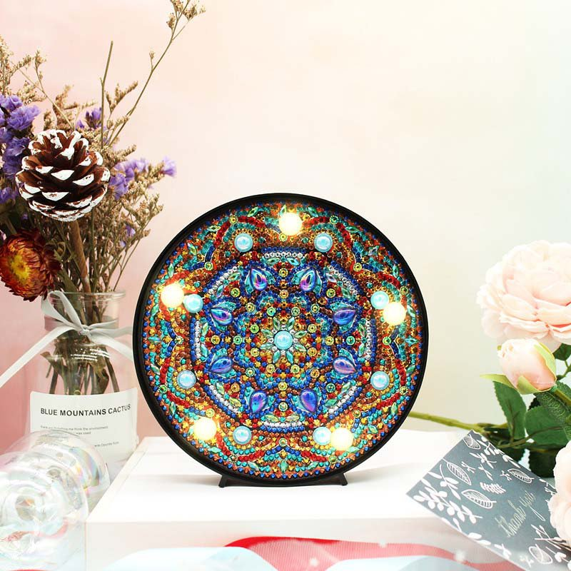 Mandala Paint by Diamond DIY LED Lamp Kit