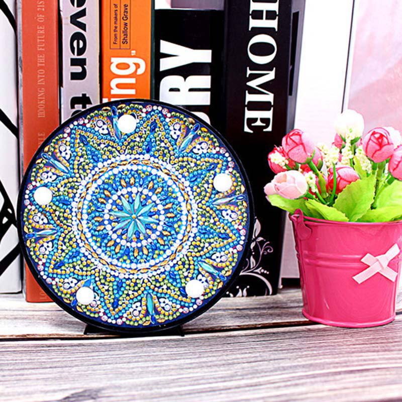 Mandala Paint by Diamond DIY LED Lamp Kit
