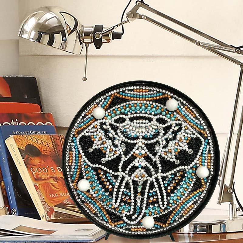 Mandala Elephant Paint by Diamond DIY LED Lamp Kit
