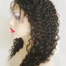 "Curly Lace Front 3"" Malaysian Virgin Swiss Lace Wig Many Sizes Color 1"