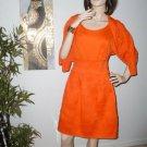 Womens Orange Designer Styler Dress Sexy  Dress with Matching sweater Sm/ Med