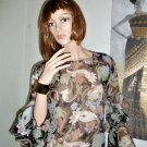 Multi Color Sheer Pull Over Layered Sleeves S/M
