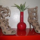 Camel Color  Ankle Open Toe Stiletto NWT 8.5M