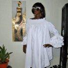 White Off Shoulder Dress Sexy  Dress M/L/XL