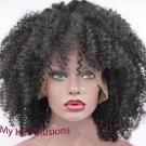 "12"" Brazilian Virgin Full Lace Afro Kinky Curly"