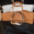 Sasse' White, Carmel, Black Tote Hand bags