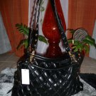 Quilted black Large Tote Gold Studded Accent Tote