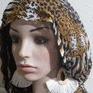 Chandielier Dangle White Tassel Macrame Clip-on Earrings