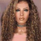 Brazilian Curl 13 x 6 Lace Front  Ombre color Waterwave