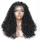 "24"" Kinky Curly Synthetic Lace Front Wig Glueless Heat Resistant"