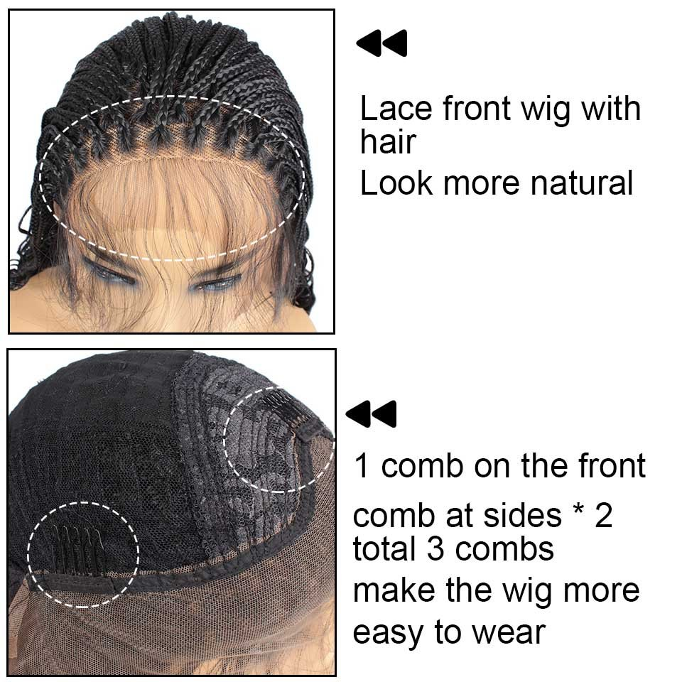 """20"""" Lace Front-Braided Synthetic  Curly Bottom"""