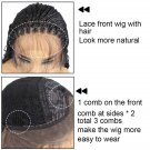 "20"" Lace Front-Braided Synthetic  Curly Bottom"