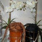 2 black Croco Textured handbagds  NWT