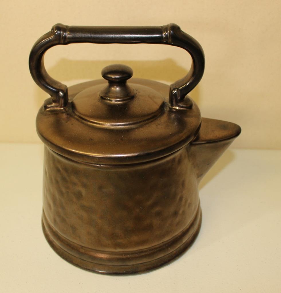 Vintage Mccoy Pottery Tea Kettle Cookie Jar