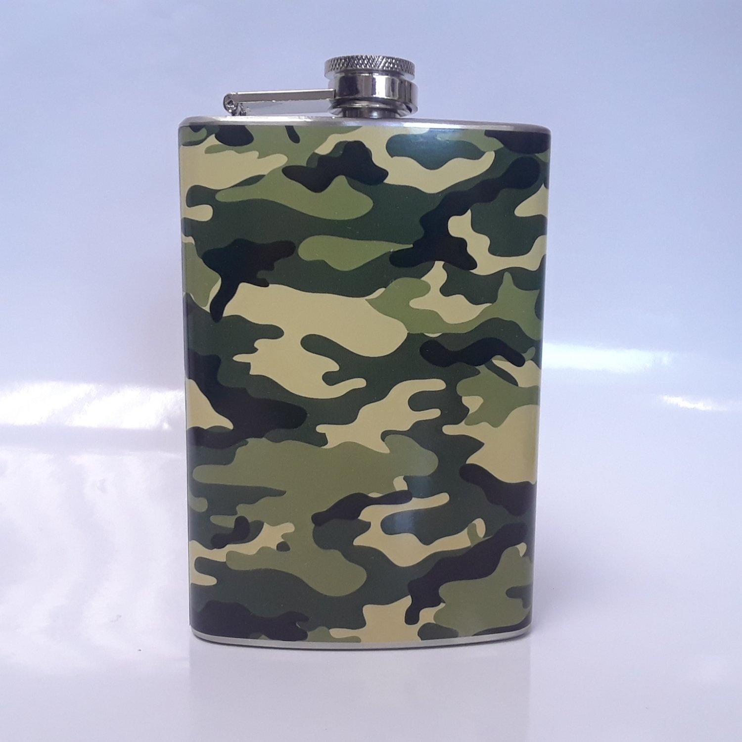Camouflage Wrap 8 oz Flask, Assorted Colors